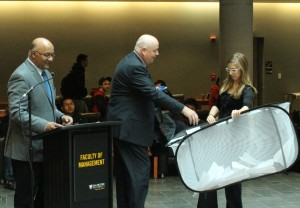 Bruce Smith from Scotiabank is picking the winner of the prize donated by Scotiabank.