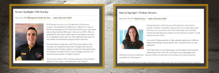 Alumni Spotlight Example