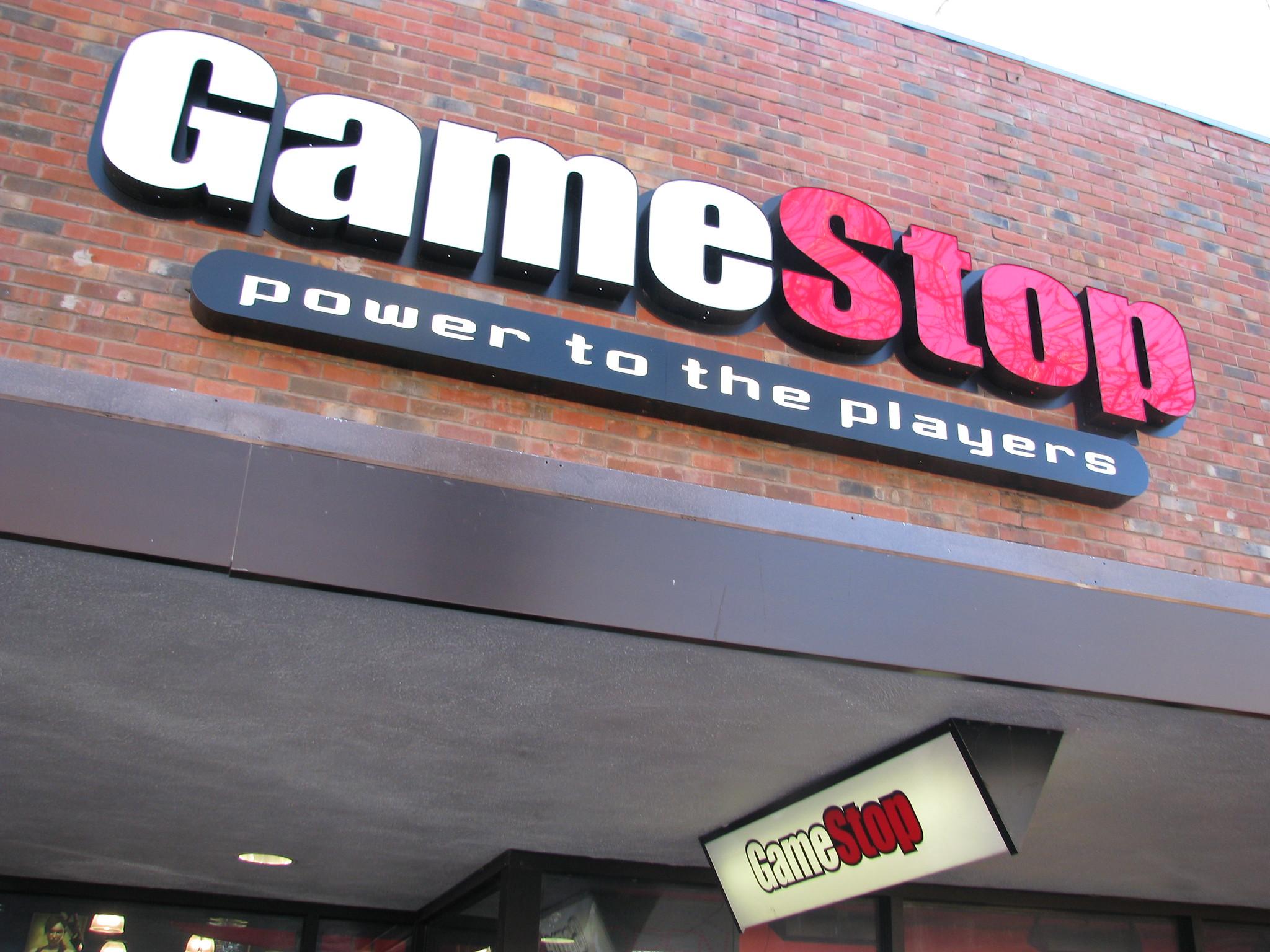 A GameStop store in Palo Alto, California