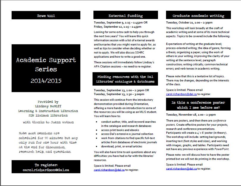 Academic Support Series