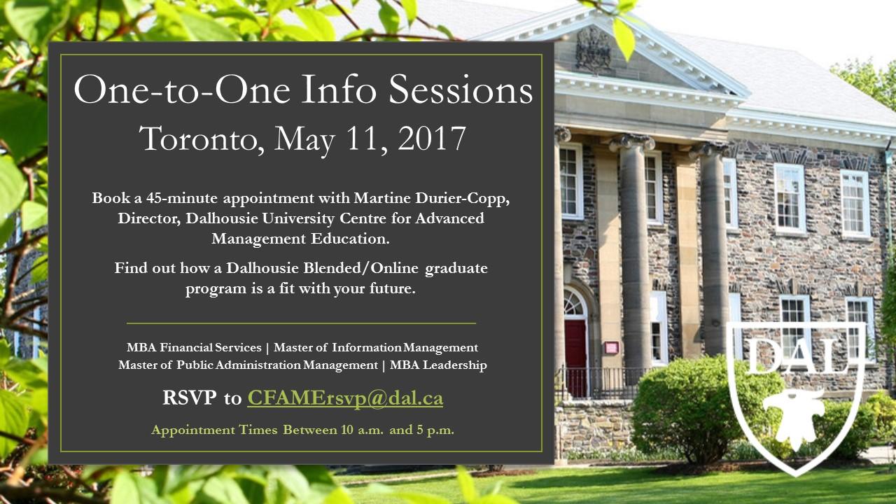 Toronto F2F Info Sessions
