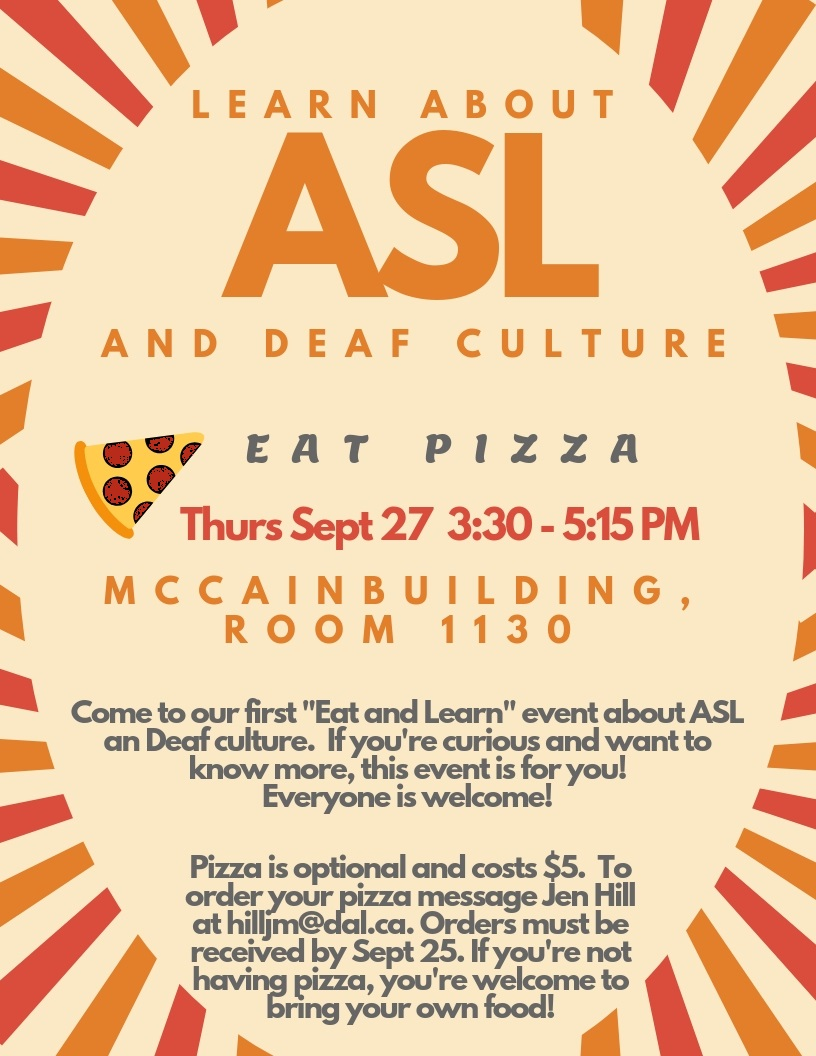 SIMSA Eat & Learn-Deaf Culture