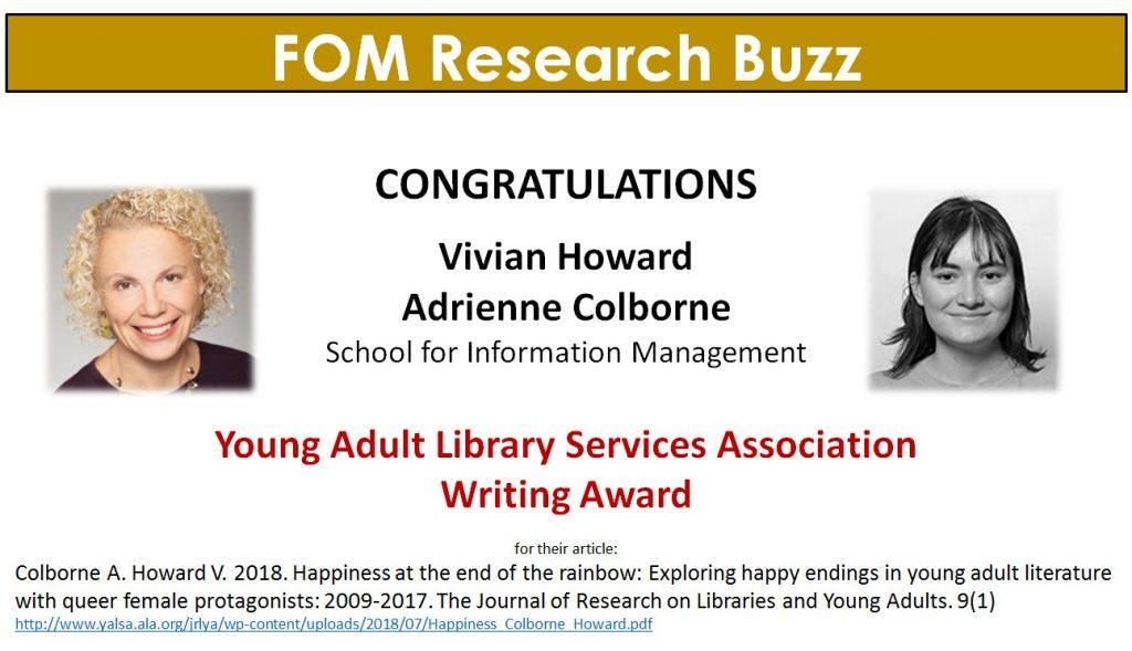 FOM Research Buzz_Vivan Howard_Adrienne Colborne